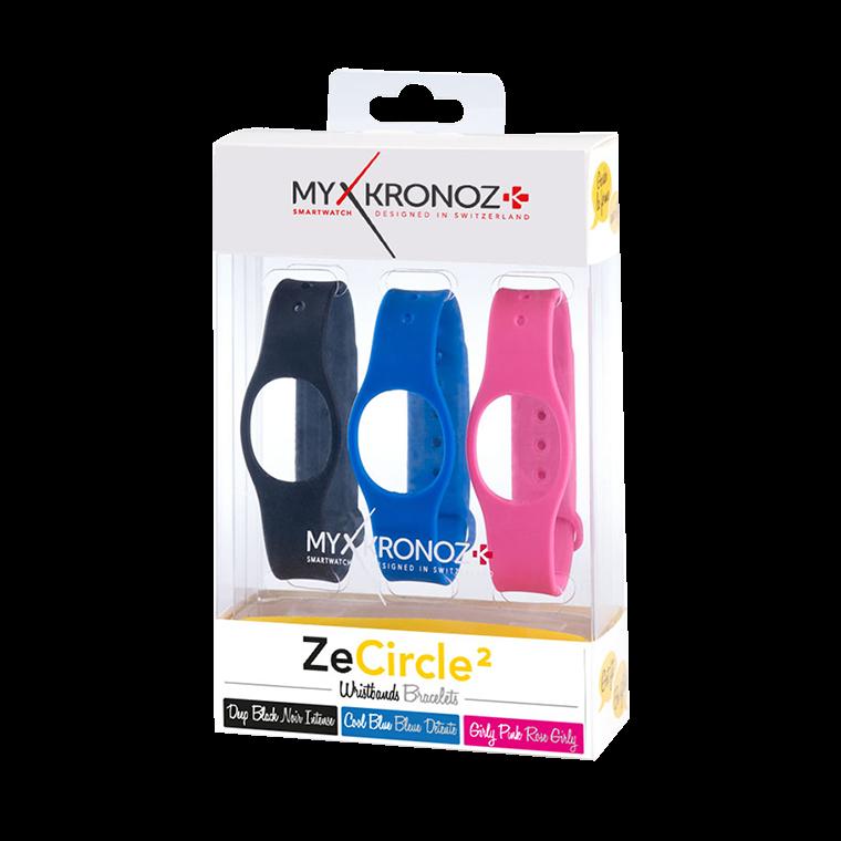 ZeCircle2 Wristbands x3 - Portez une couleur différente chaque jour - MyKronoz