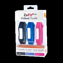 ZeFit<sup>2Pulse</sup> 三条装表带套装 - 颜色天天换 - MyKronoz