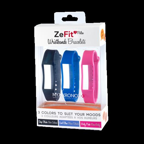ZeFit<sup>2Pulse</sup> 三条装表带套装