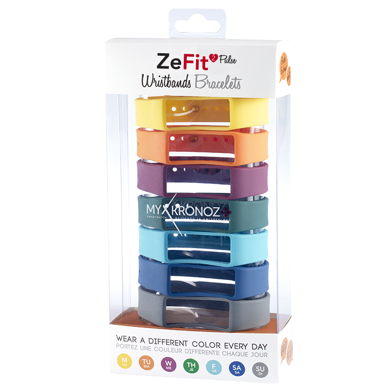 ZeFit2Pulse Braccialetti x7 - Indossa colori diversi ogni giorno - MyKronoz
