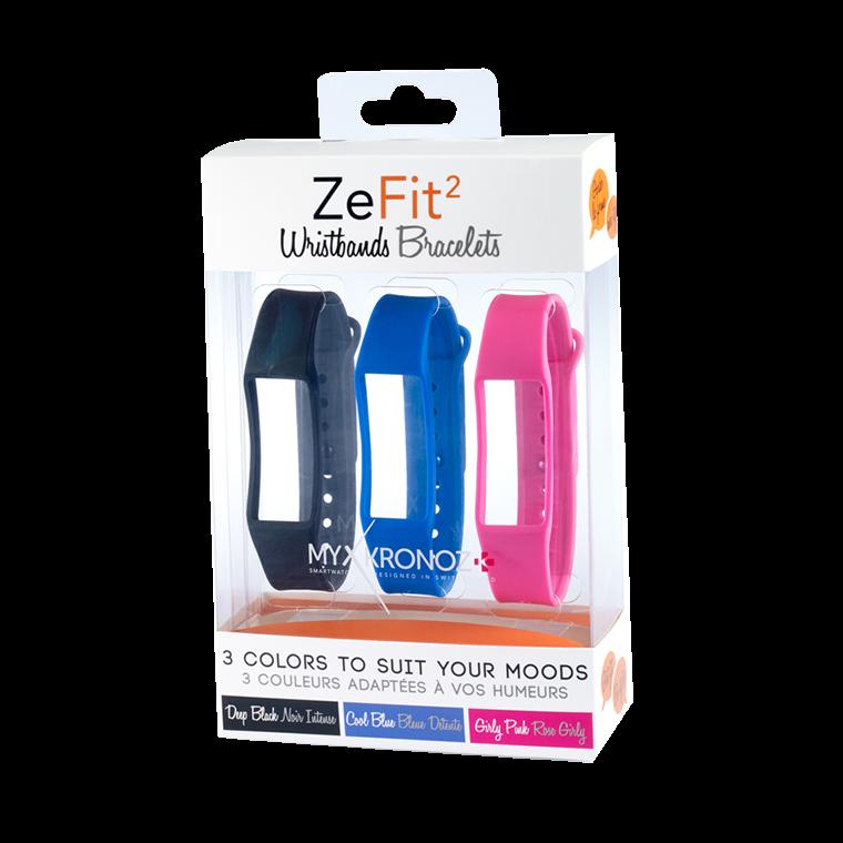 ZeFit2 Braccialetti x3 - Indossa colori diversi ogni giorno - MyKronoz