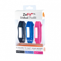 ZeFit<sup>2Pulse</sup> Braccialetti x3 - Indossa colori diversi ogni giorno - MyKronoz