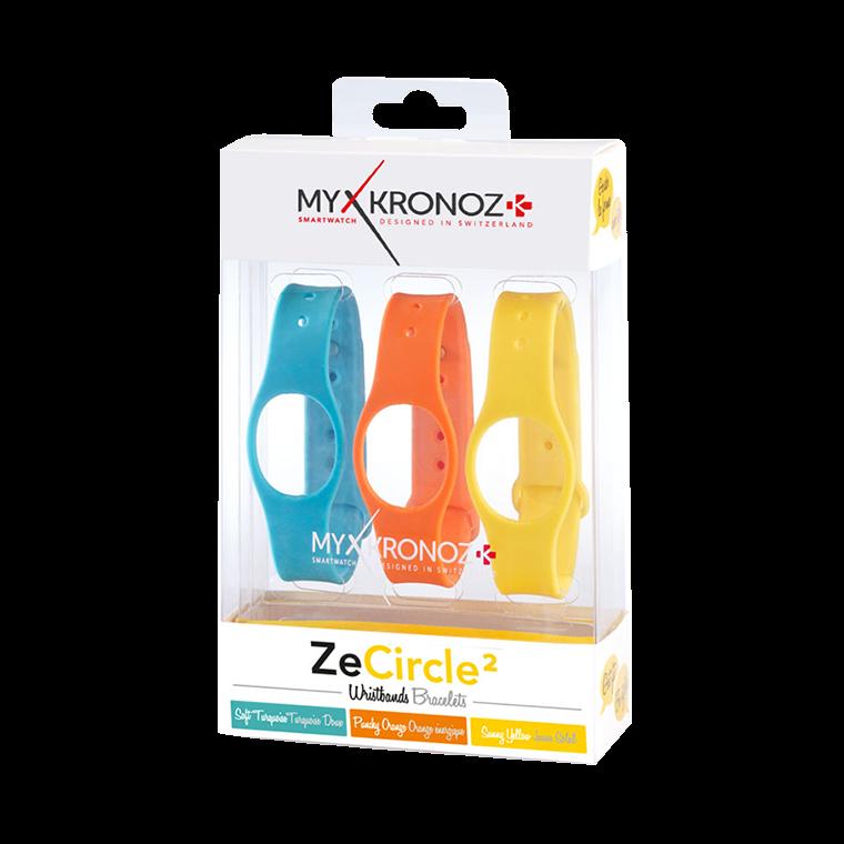 ZeCircle2 Braccialetti x3 - Indossa colori diversi ogni giorno - MyKronoz