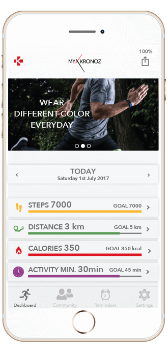 Check your performance, set your goals and preferences on your ZeFit4 app for Androïd and iOS