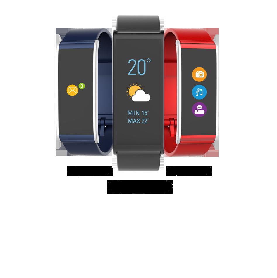 在彩色触摸屏上查看来电,信息以及当前天气