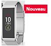Tracker d'activité rectangulaire avec écran tactile couleur et notifications intelligentes