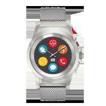 La première montre connectée hybride avec aiguilles mécaniques et écran couleur tactile